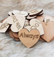 Beech Wood Hearts 2.5 cm,Rustic Wedding Decoration,Tiny Wood Hearts