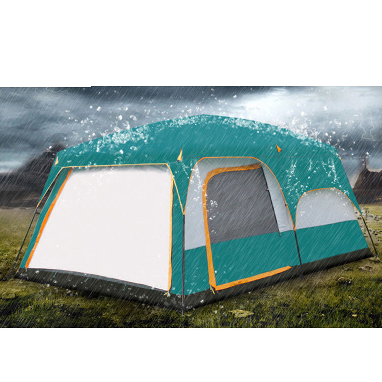 Customized Logo High Quality Large Size Family for 12 Persons waterproof Camping Tent