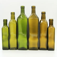 Wholesales cheap  price food garde cooking and  olive oil  brown and dark green bottles