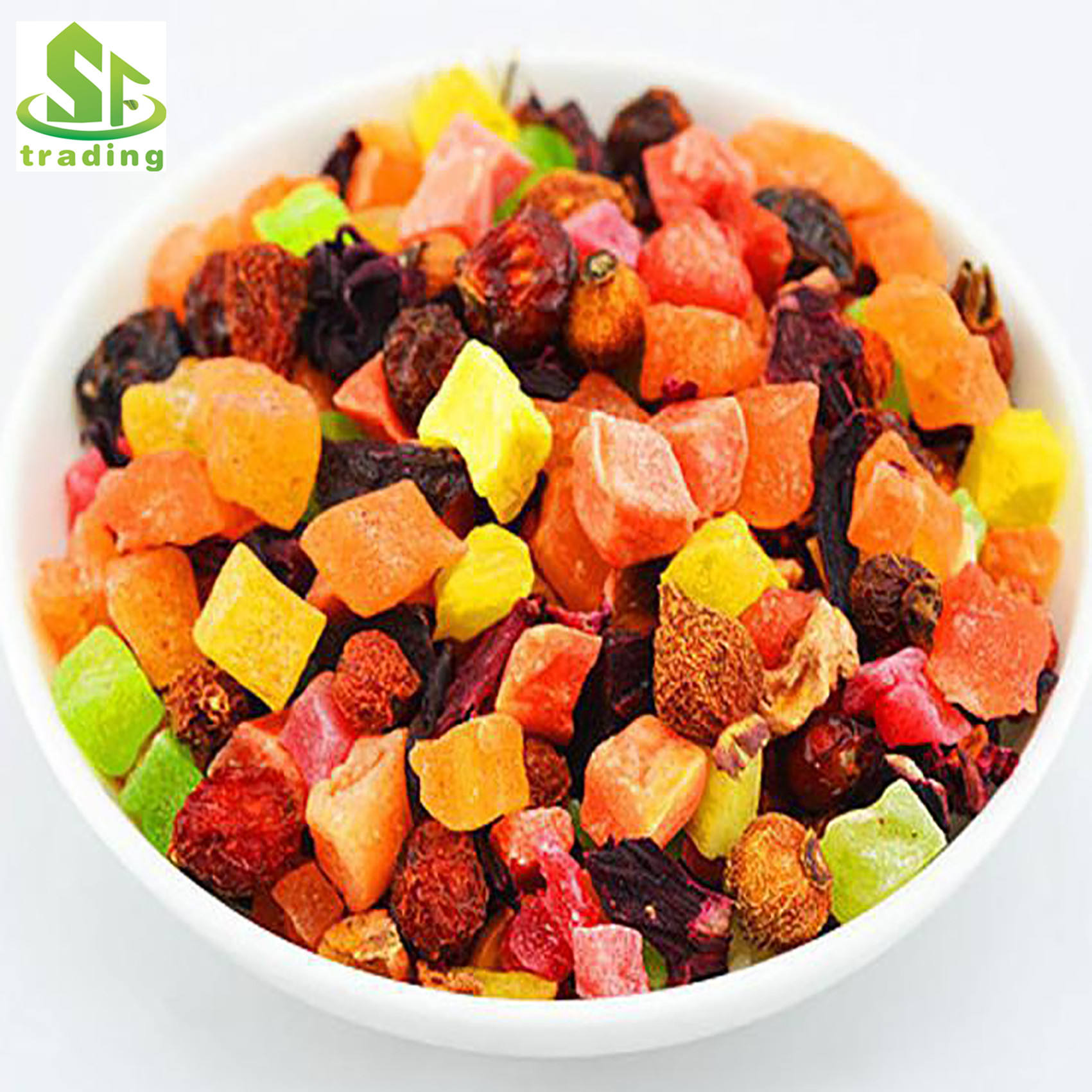 Organic dried fruit and flower blended tea,flavor fruit tea