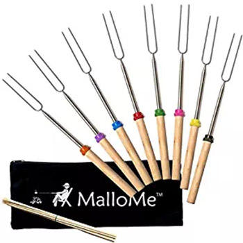 Wholesale Premium Marshmallow Roasting Sticks Smores Skewers Hot Dog Fork 34 Inch Rotating BBQ Telescoping Sticks