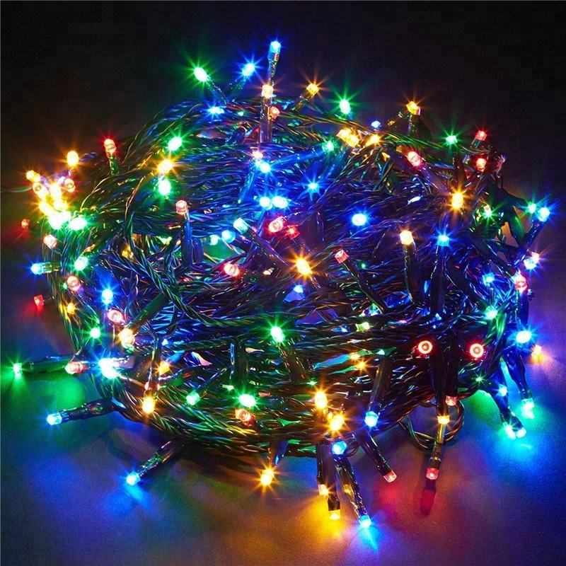 Xmas outdoor tree decoration 200 elf stars magnesium air fuel cell button control battery operated Led Christmas string lighting