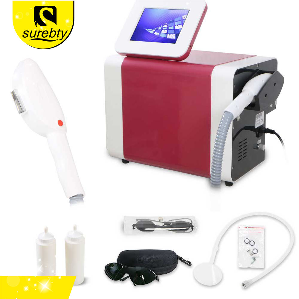Shenzhen Surebty Portable Whitening Machine Skin Wrinkle Remover E light ipl hair removal rf Machine