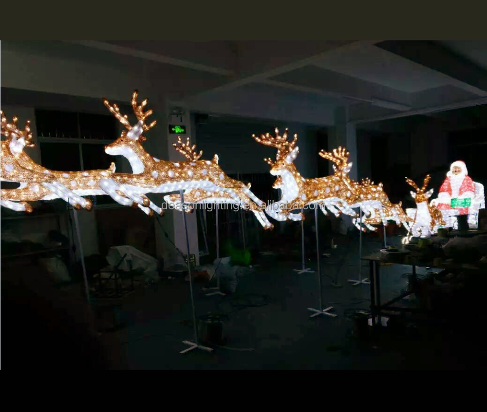 lighted outdoor christmas deer