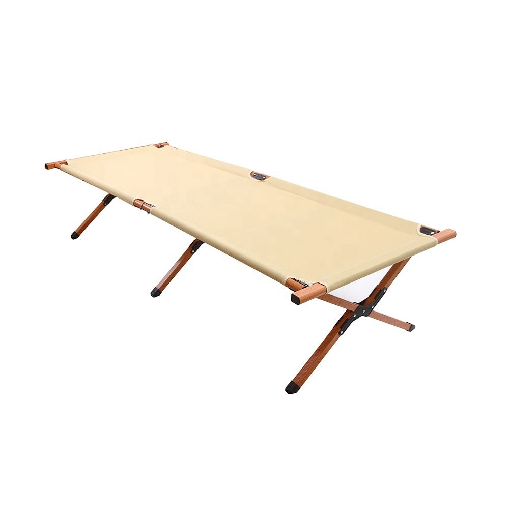 Tianye wood coating steel metal portable folding bed tent cot camping bed