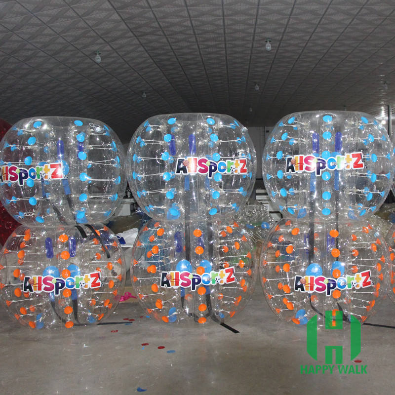 Newly finished bubble ball soccer/body bubble ball suit/bumper ball with color pulling pin