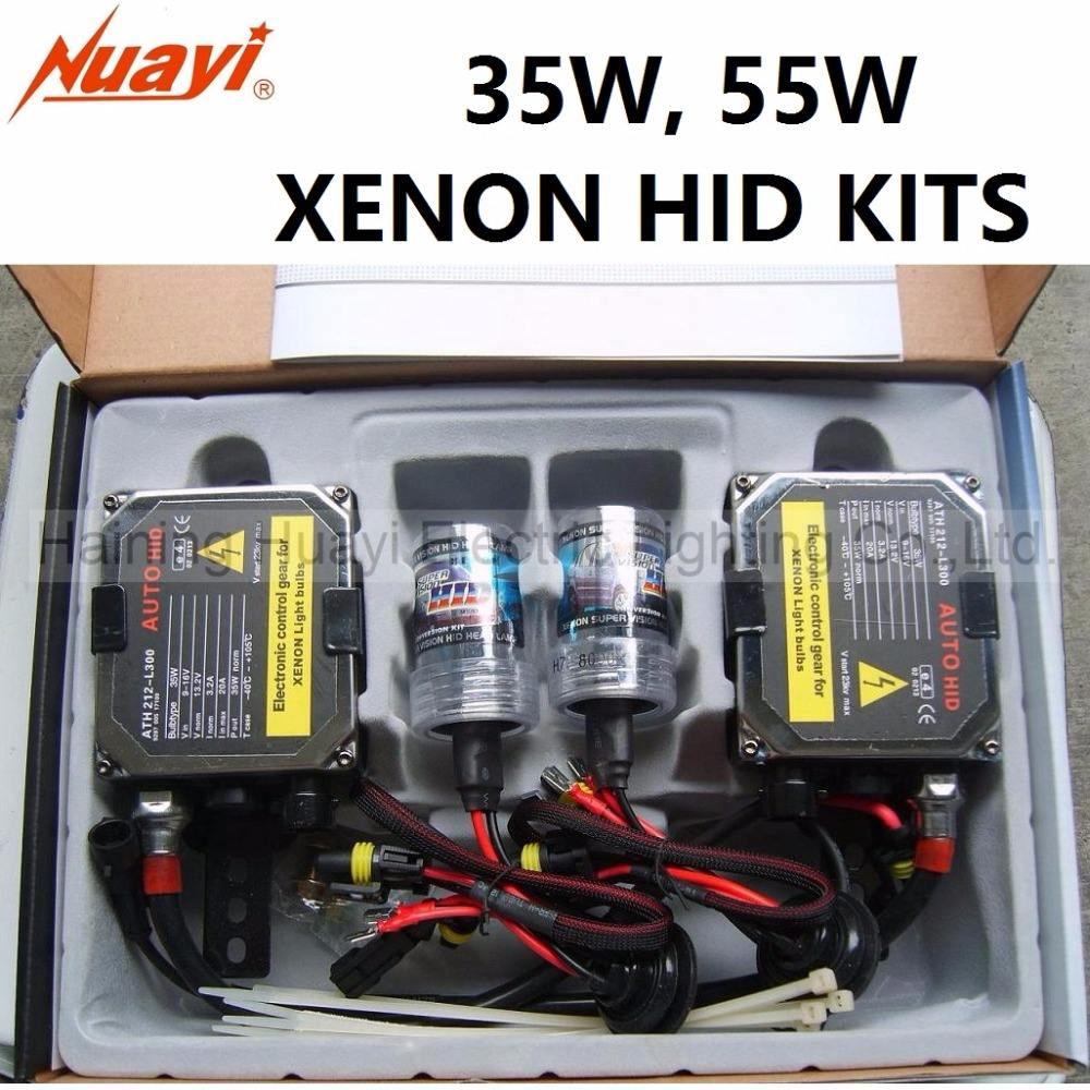 Hot Selling All Color 35W 55W Single Beam Auto Car Lamp H7 Xenon HID Kit with Digital Ballast