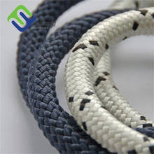 18mm polyester double braided tugboat rope with eye splice ring