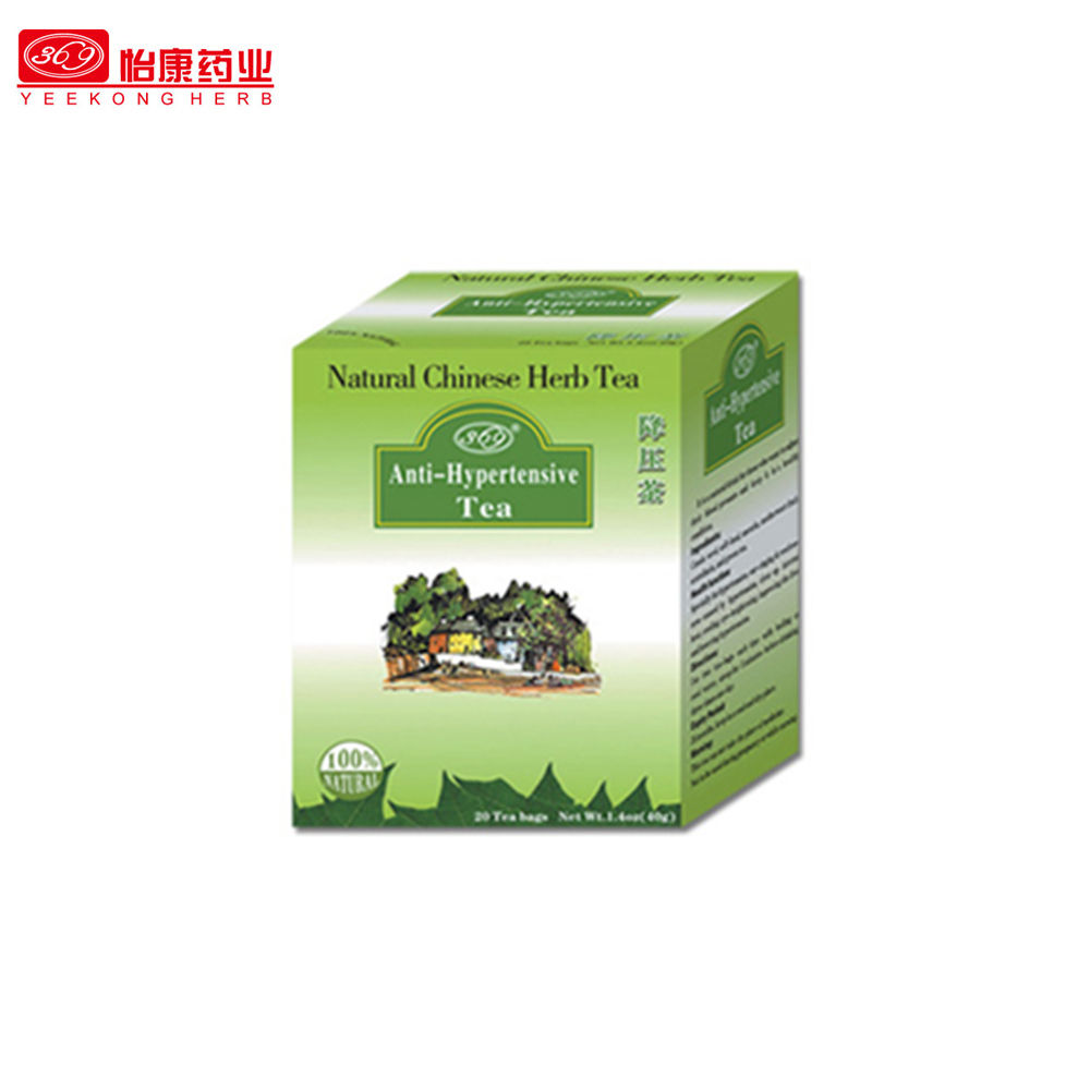 Chinese functional teabag packed Herbal tea for lower blood pressure Anti-hypertensive liver health