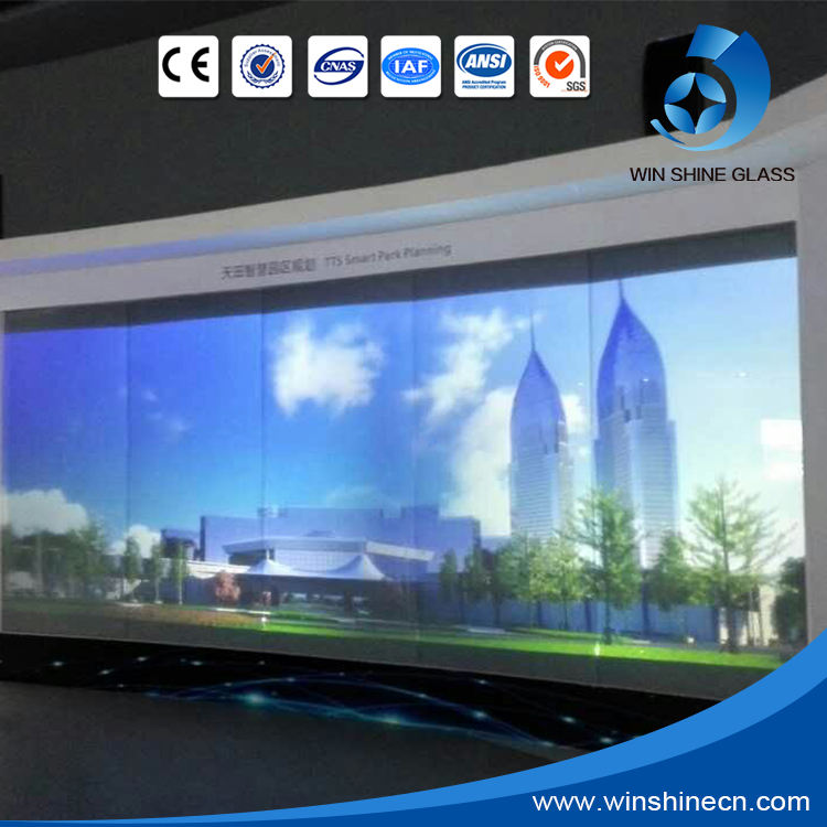 High quality electric switchable PDLC smart projector screen, projection screen