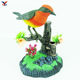 Singing electric plastic voice control talking toys with small birds