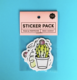 Promotional Self Adhesive Label Private Custom Stickers Cheap Sticker Pack