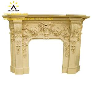 Classic Design Natural Marble Fireplace