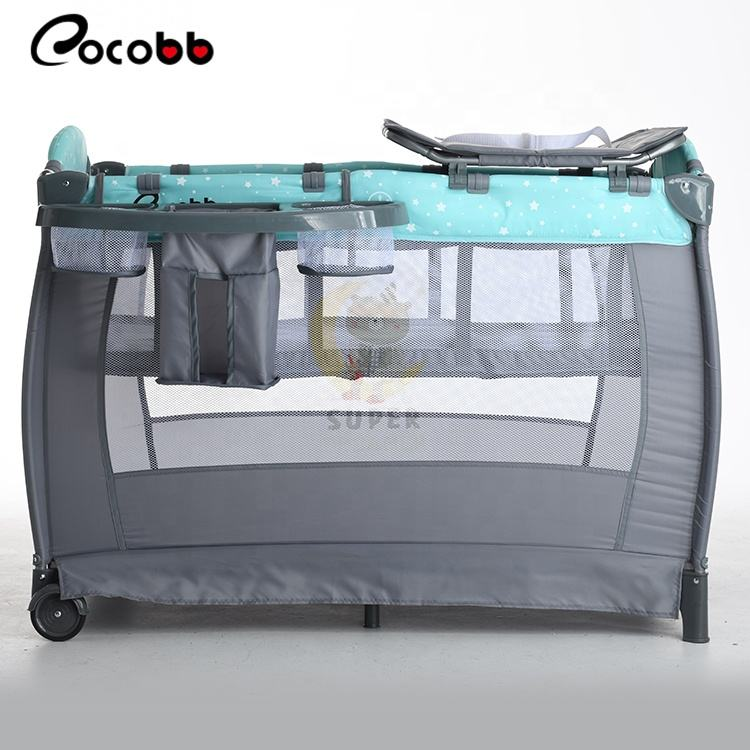 CO-P810G 110cm Kid play yard playpen With second layer