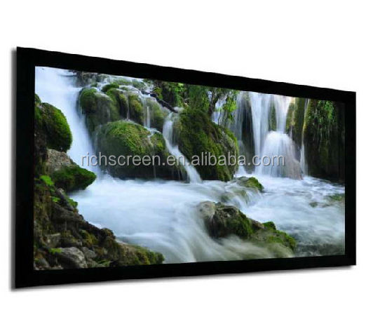 "100 ""(16:9) 120"" (16:9) 6 Pcs Frame Fixed Frame Screen Projector/HDTV 3D Bioskop Rumah Cinema Proyeksi"