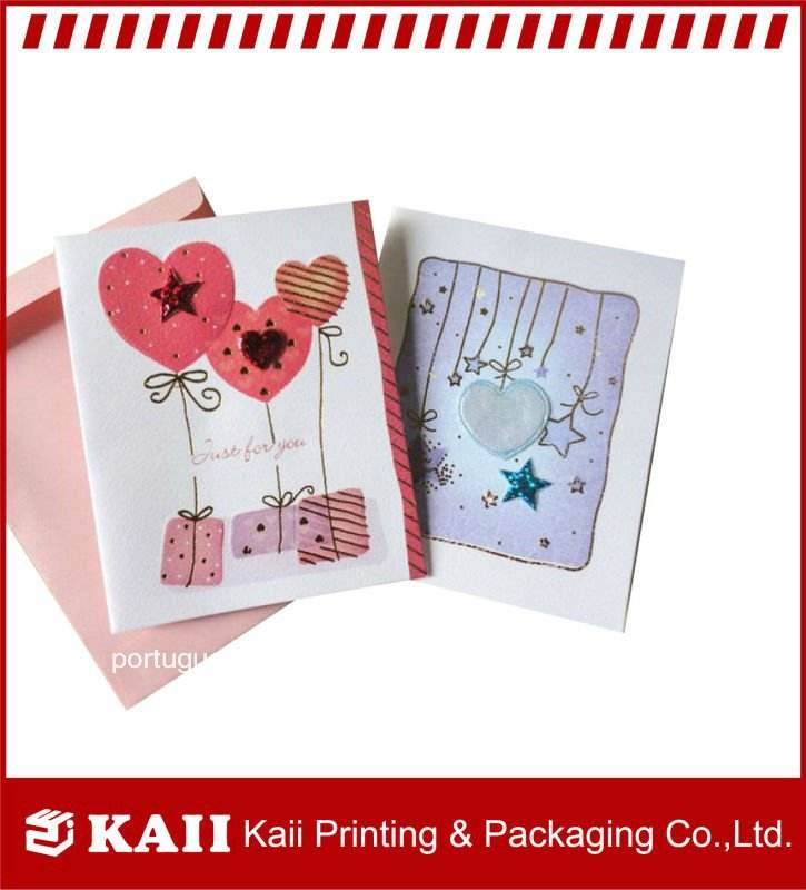 oem profissional artesanal amor cartão fabricante na china
