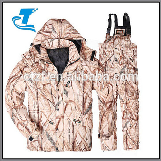 Men's Camouflage Hunting Jacket and Pants Hunting Suits