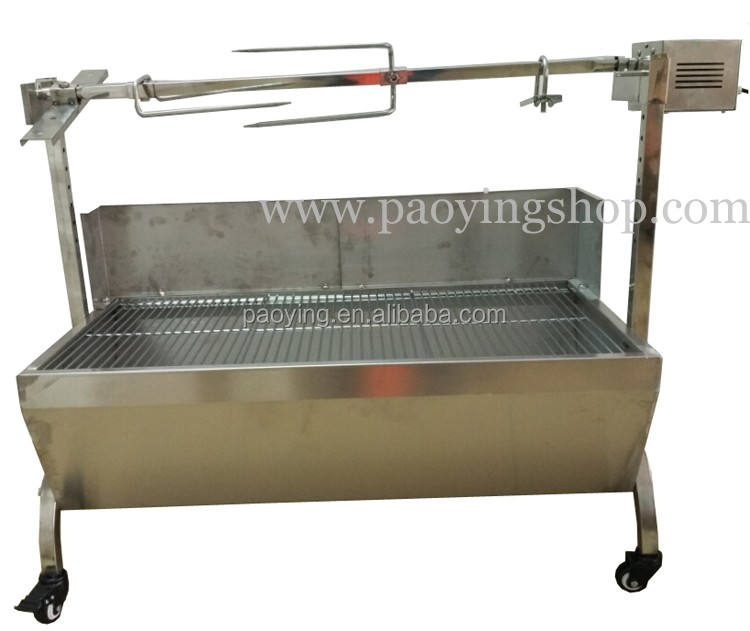 89Cm Heavy Duty <span class=keywords><strong>Rvs</strong></span> Spit Koffiebrander Rotisserie <span class=keywords><strong>Houtskool</strong></span> <span class=keywords><strong>Bbq</strong></span> Grill Met 60Kg Motor