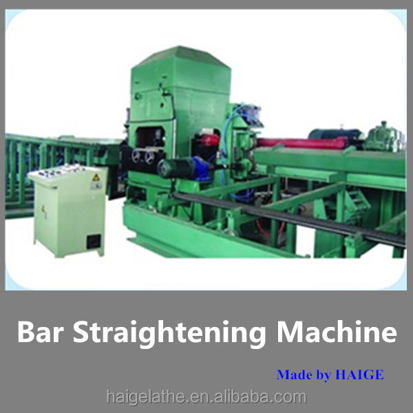 Horizontal steel and brass rod bar straightening cutting machine with automatic feedbar