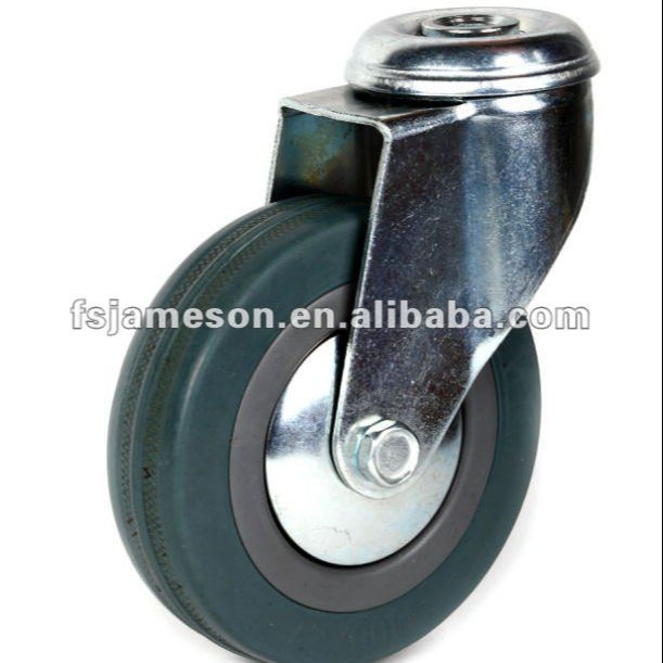 JH3 PVC or rubber pvc casters castors and wheel with total brake