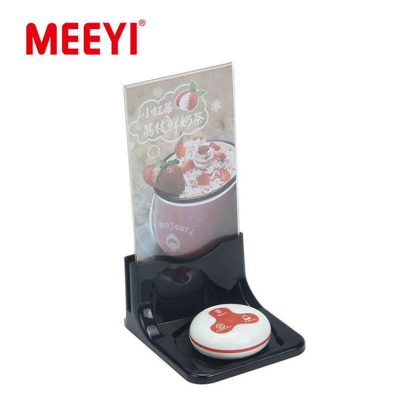 Menu Holder [ Menu ] Table Call Meeyi Food Court Wireless Call System Waiter Call Button With Table Stand Menu Holder