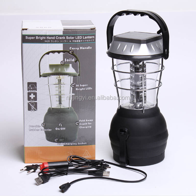 rechargeable hand solar 36pcs led cranking dynamo camping lantern