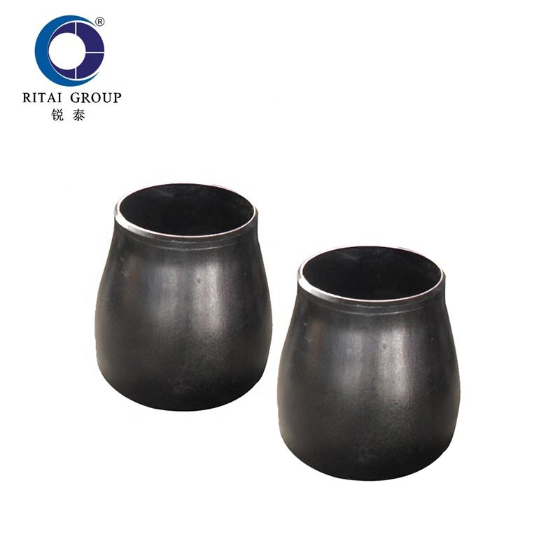 ASME B16.9 welded black painting pipe fitting con reducer