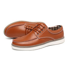 Unique British style Men Leather Leisure Shoes rubber shoes men leather casual  shoes