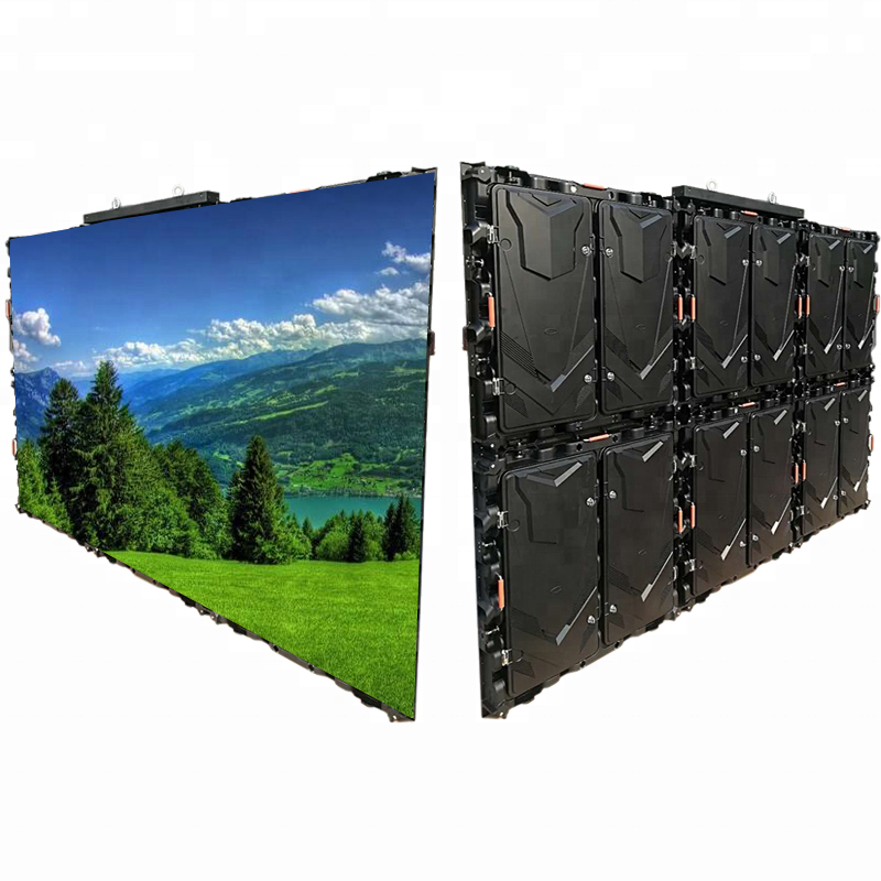 Outdoor Waterproof 960X960 Magnesium Alloy Empty Cabinet For P10 Full Color Large Panel Led Screen Display Advertising