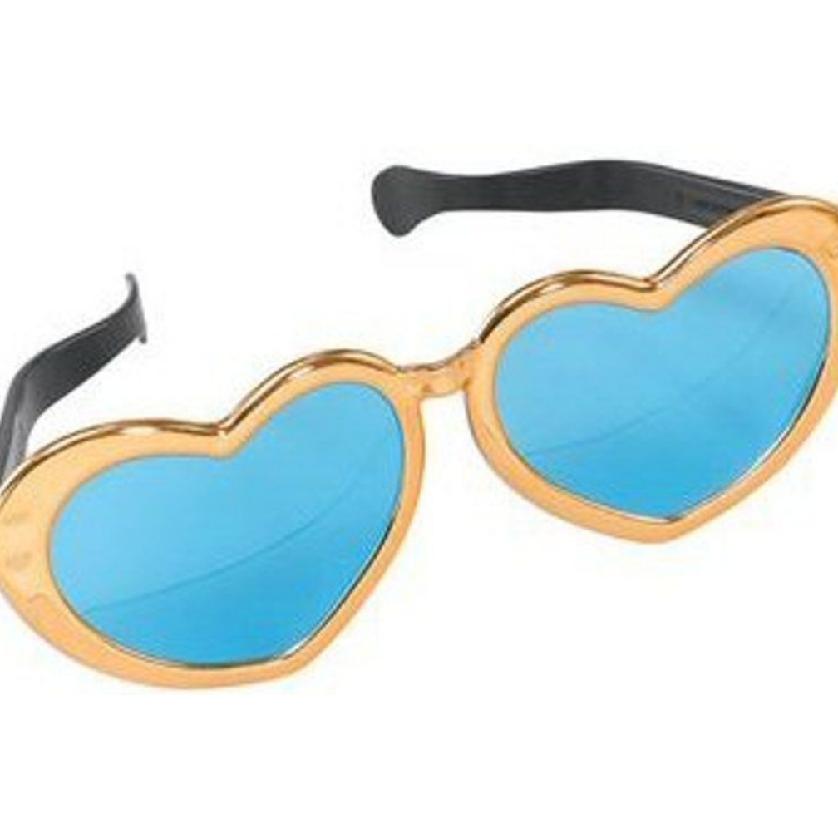 Fancy Dress NEW 70/'s Jumbo Heart Shaped Specs Funny Giant Sunglasses