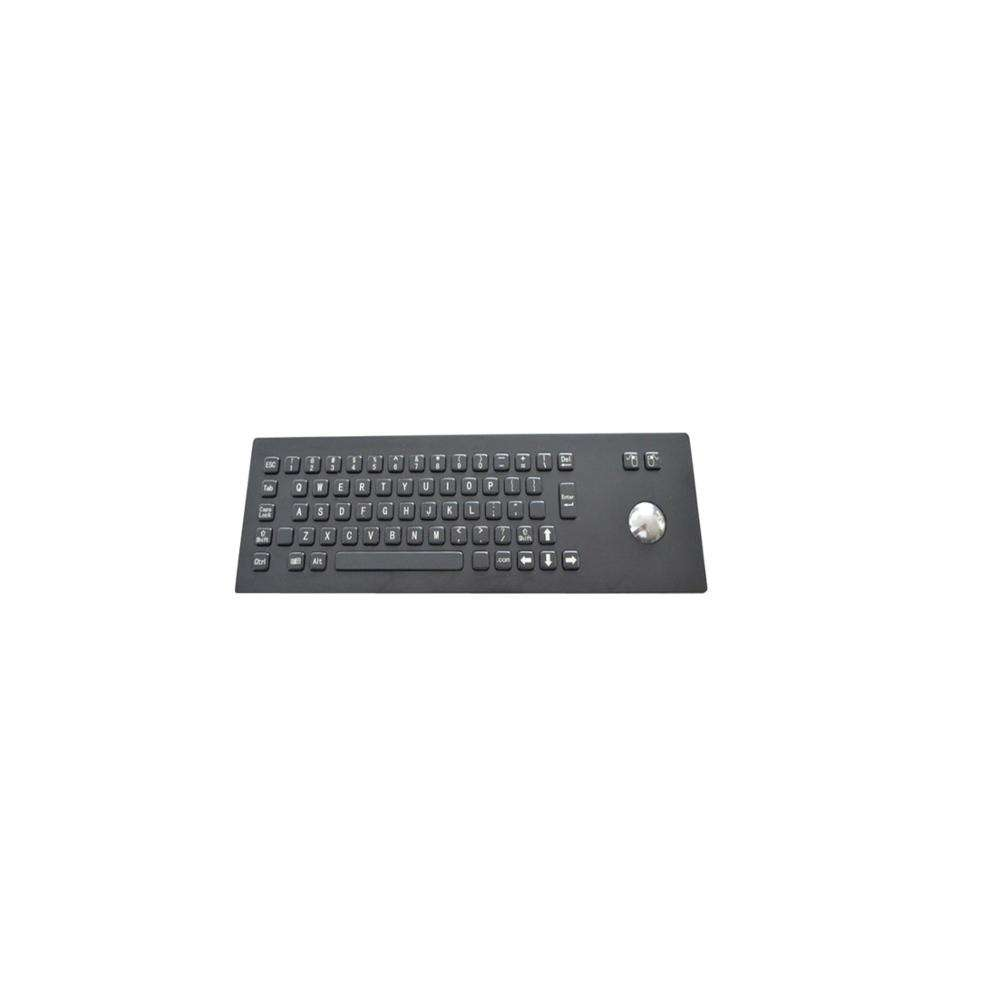 Hinten montage IP65 Industrie-pc Metall Tastatur mit <span class=keywords><strong>Trackball</strong></span>