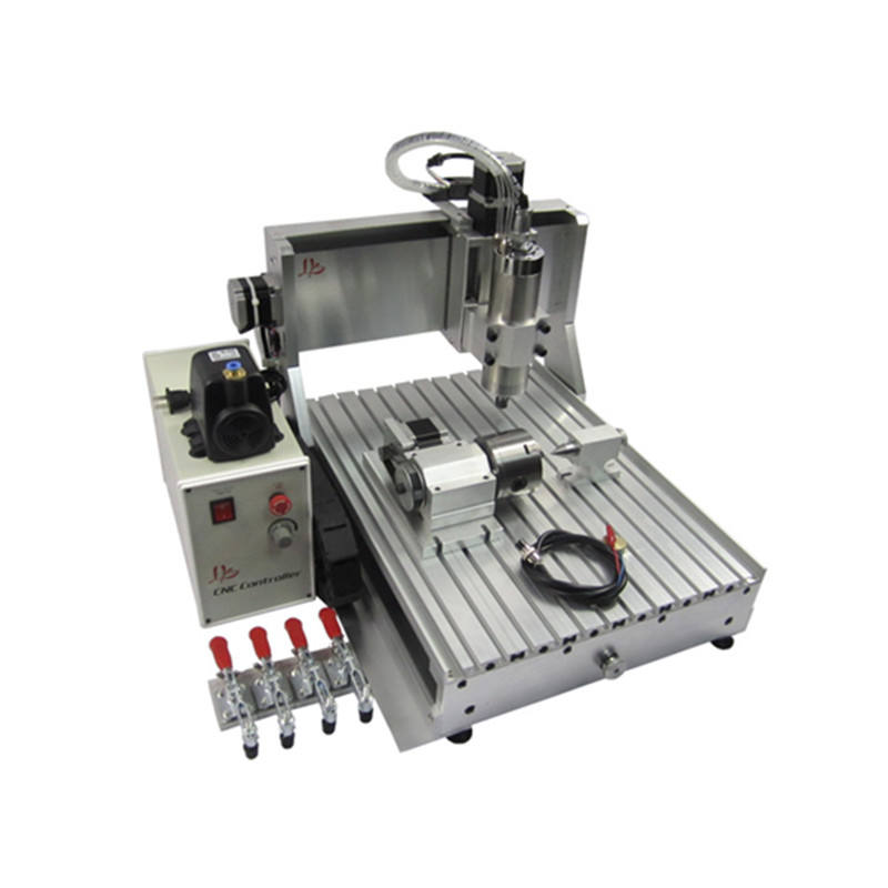 DIY CNC3040 1.5KW VFD Cnc Router Metal Cutting Machine 4 Axis Spindle Ball Screw For Wood Stone Carving