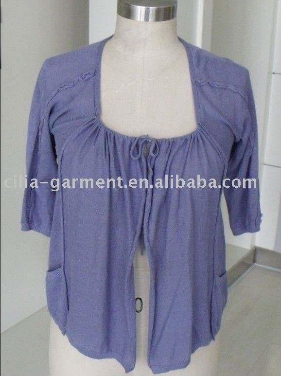 سترة سيدة، 2012 تصميم الأزياء الجديدة متماسكة البلوزات