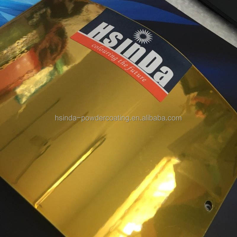 gold mirror effect epoxy polyester spray powder coating for stainless steel