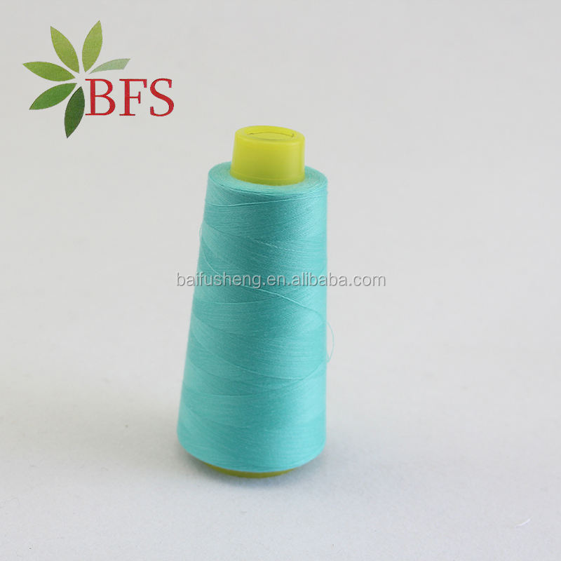 High Strength White 100% Polyester Bag Closing Thread 20 6 Sewing Yarn