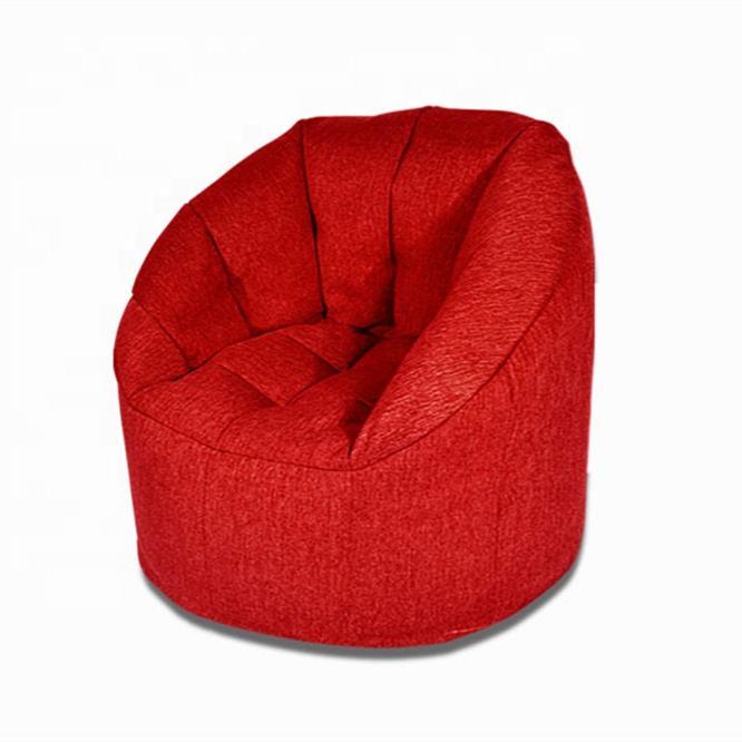 Helle Rot Leinen Stoff Kürbis Sitzsack/Sitzsack Mit Füllung