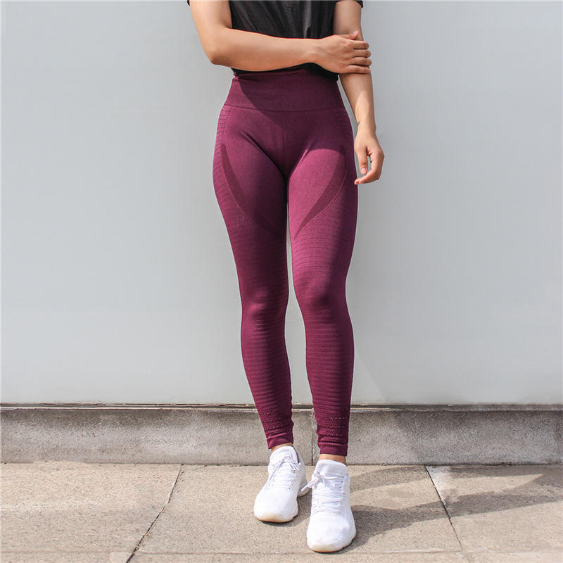 Breathable Hollow Out Tights Gym Fitness Leggings Fitness Seamless Leggings Yoga Pants