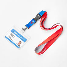Custom Promotional ID Card Holder Lanyard Polyester Lanyard with ID Holder