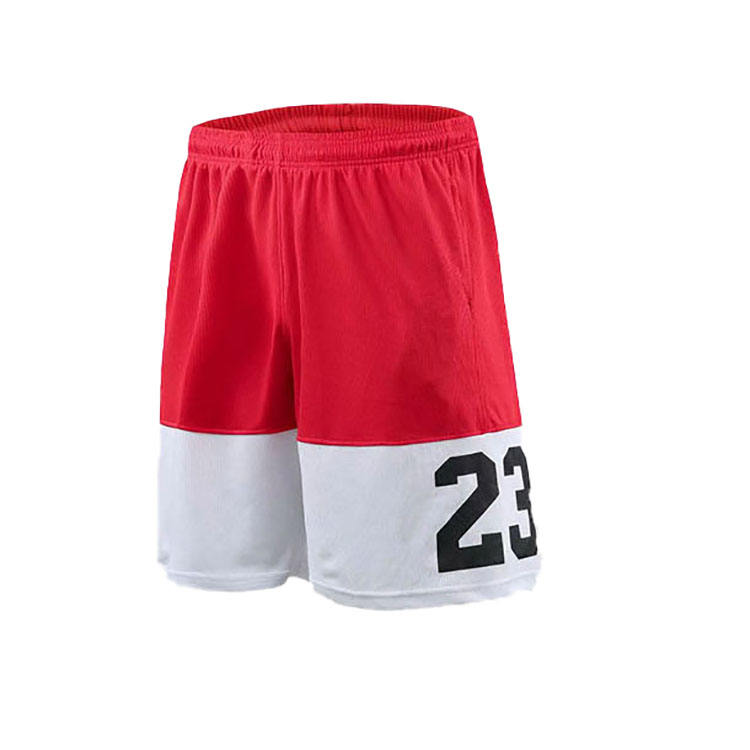 wholesale design cheap polyester training plain breathable basketball shorts for men