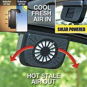 ABS Solar Powered Car Window Windshield Auto Air Vent Cooling Fan System Cooler fan
