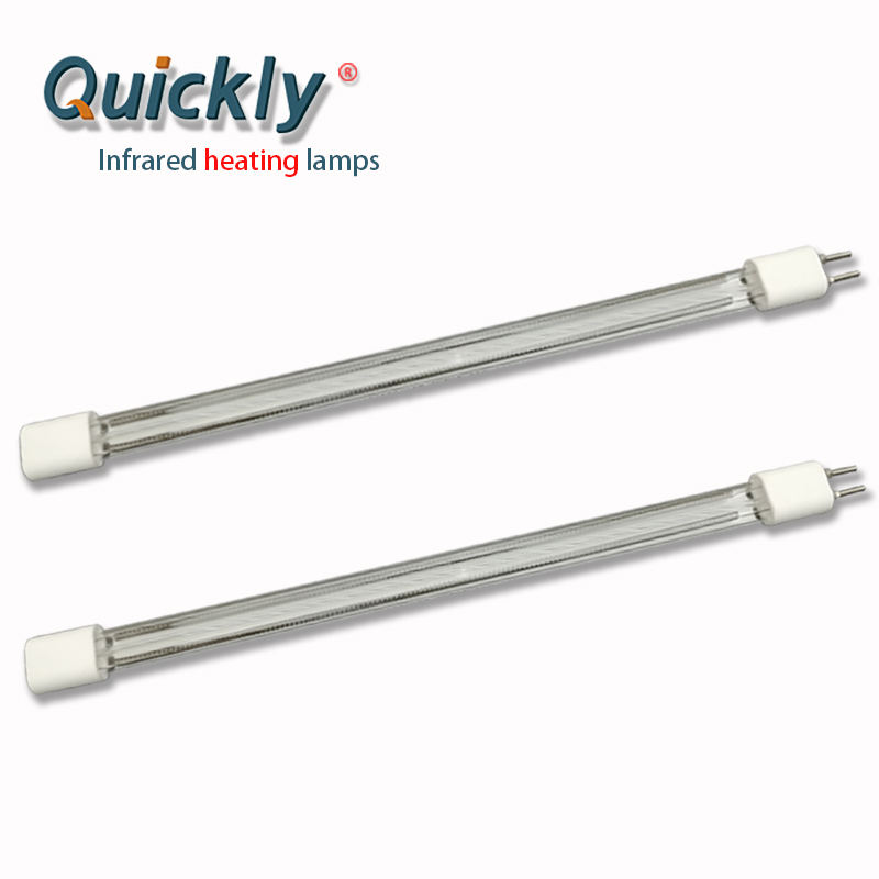Quartz electric heat twin tube for Glass raw material preheating