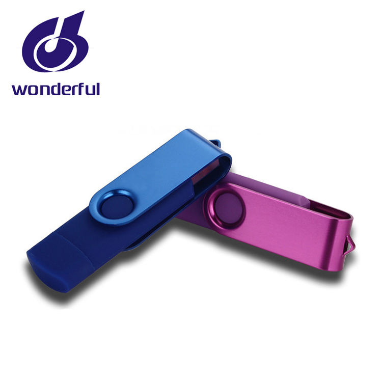 OTG Waterproof USB3.0 Stick Metal USB Flash drive real 16gb of ram swivel usb flash memory