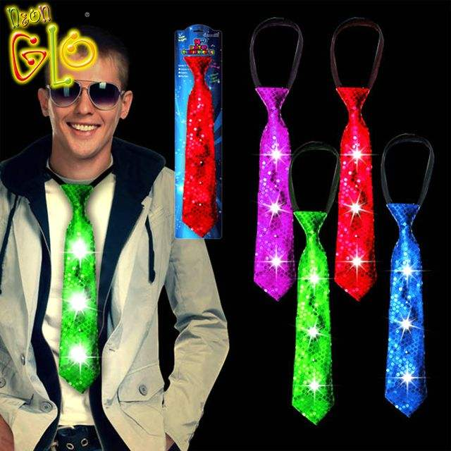 Neon Birthday Party Supplies Led Light Up Necktie