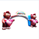 Lovely bear led inflatable arch advertising outdoor inflatable arch inflatable wedding arch promote