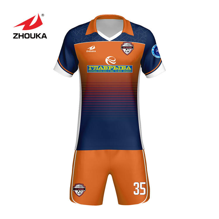 wholesale youth full sublimation soccer wear set football jerseys