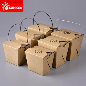 Takeout kraft paper fast food box packaging