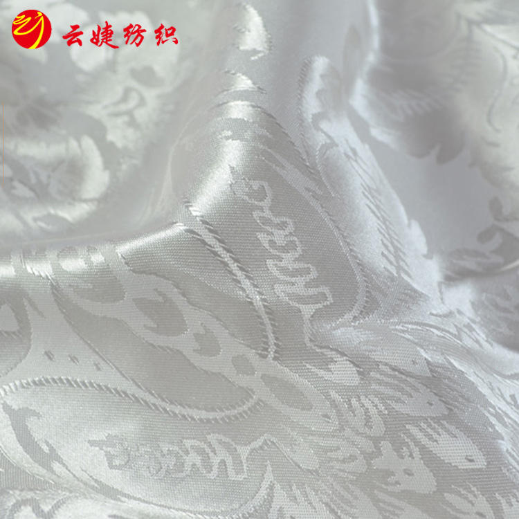 Design Jacquard Satin Fabric 100%Polyester For Night Dress