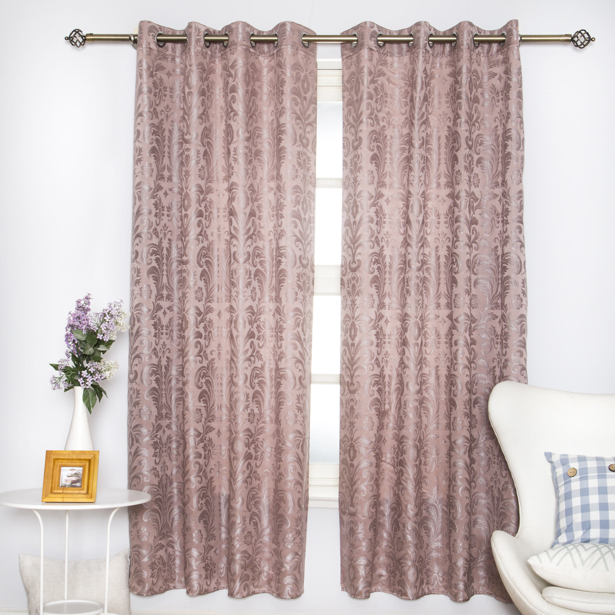 Latest popular cheap good quality hotel and home jacquard curtains