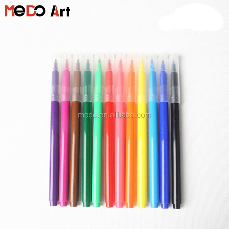 Multi Warna Felt Tip 2.3mm Berbasis Air Cat Marker Pen