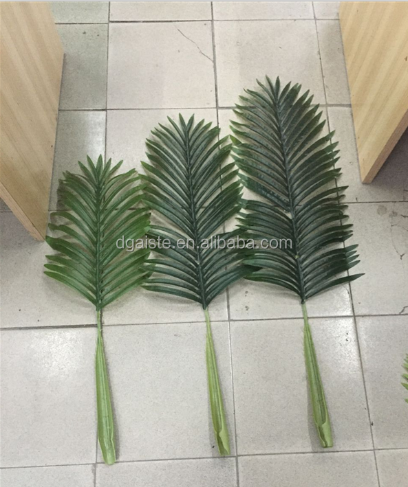 outdoor tree branch ornament artificial plastic betel leaf fake small palm leaf